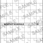 Classic Monthly Calendar